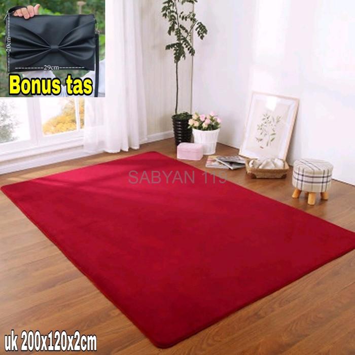 TERLARIS karpet bulu ambal meja uk 200x120x2cm