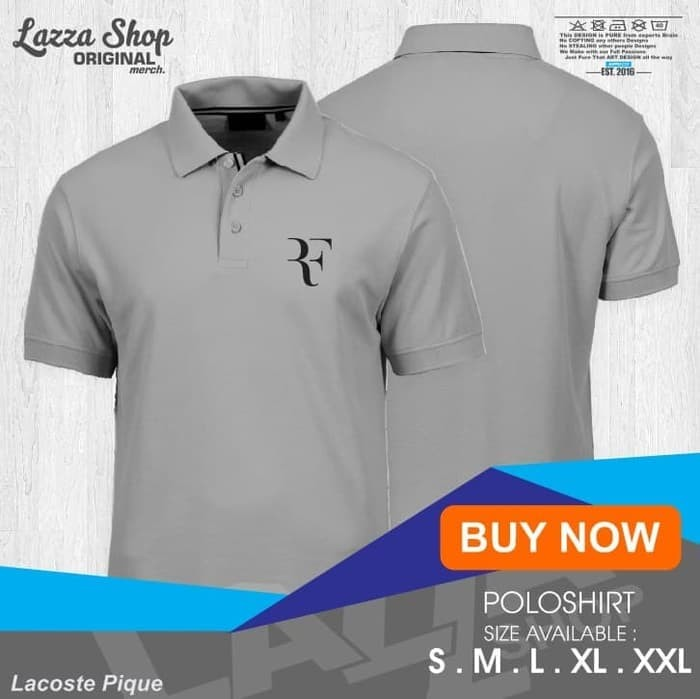 Foto Produk Poloshirt / Polo Kaos / Baju Kerah Olahraga RF Roger Federer Murah - dari Ashagyclothing