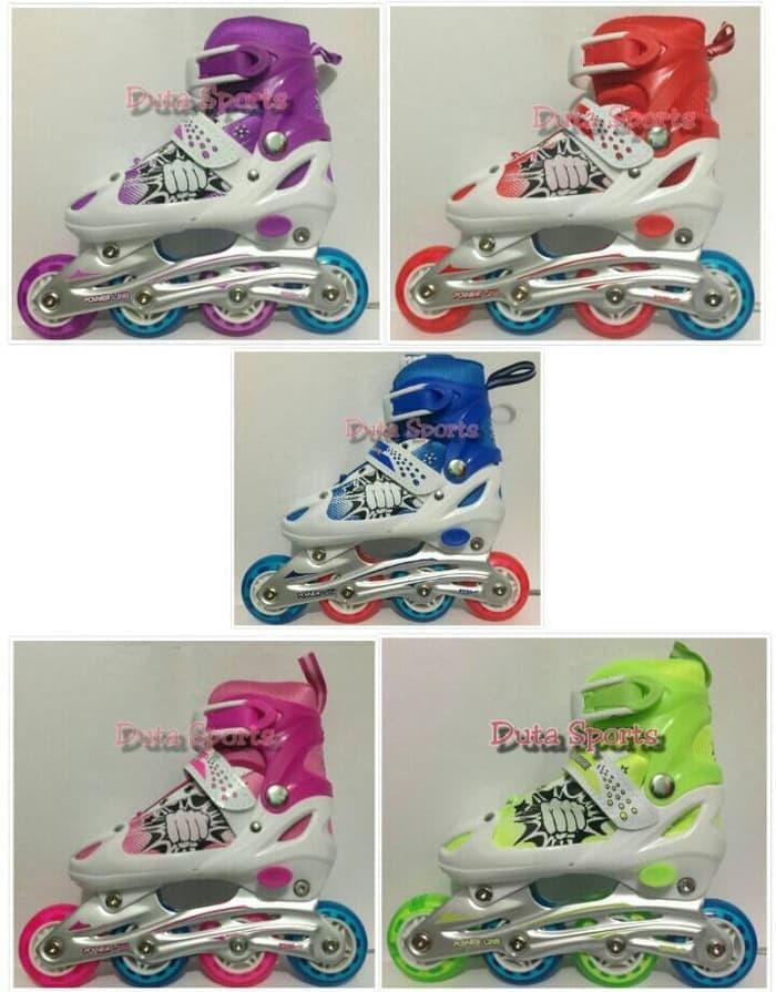 Jual Roller Skate Sepatu Roda Anak Roda Karet HARGA MURAH Powerline ... 2175cfe8be