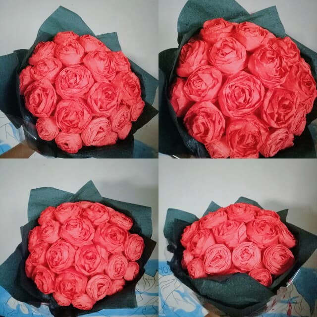 Jual Bucket Bunga Mawar Kertas Hitam Kab Bandung Papercandyd Tokopedia