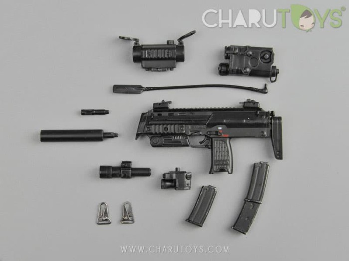Foto Produk 1/6 Scale MP7A1 -Black C for Hot toys action figure dari Charu Toys