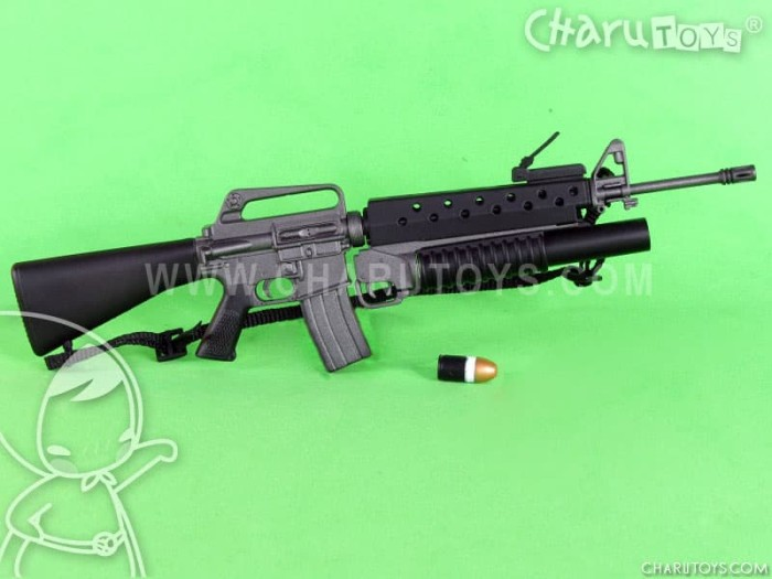 Foto Produk 1/6 Scale M16 with Grenade Launcher for Hot Toys Action figure dari Charu Toys