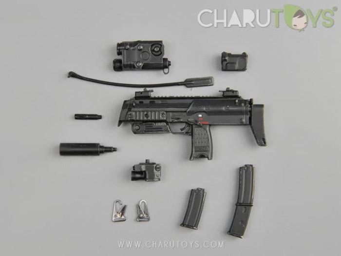 Foto Produk 1/6 Scale MP7A1 -Black B for Hot toys action figure dari Charu Toys