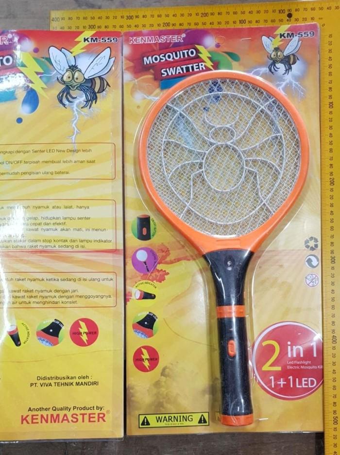 harga Kenmaster raket nyamuk listrik 2 in 1 mosquito senter led stark Tokopedia.com