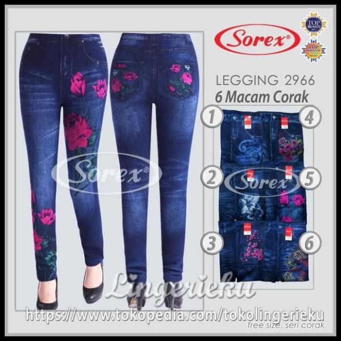 Jual Celana Legging Sorex Model Terbaru Motif Jeans 2966 Dijamin Jakarta Pusat Rifa Toko Tokopedia