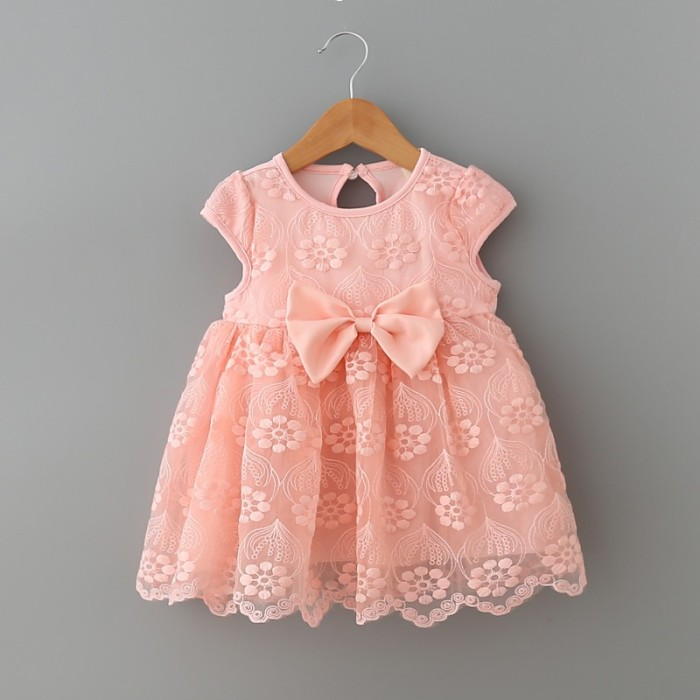 12471999f216 infant clothes girl summer baby girls dress Kids white first birthday