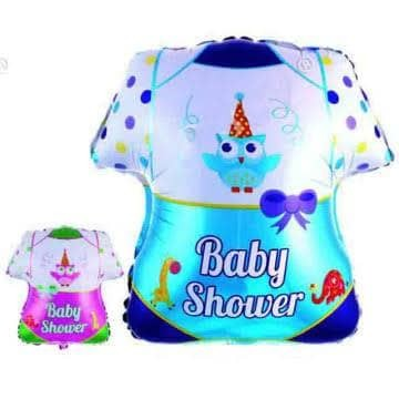 Balon Foil Baby Shower/ Balon Baby Boy/ Girl/ Balon Baju Baby Shower