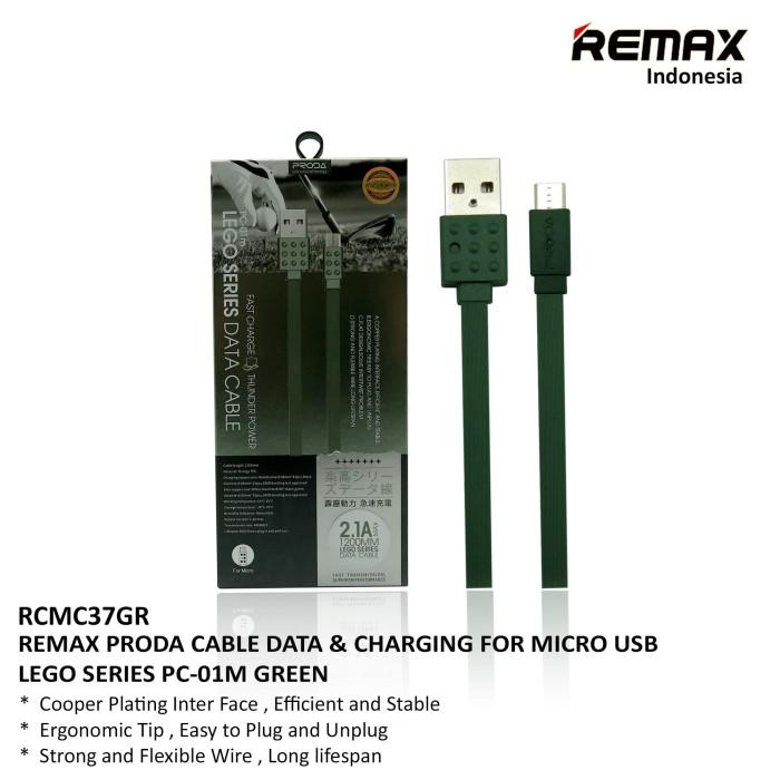 harga Remax lego series cable micro usb - pc-01m green - merah Tokopedia.com