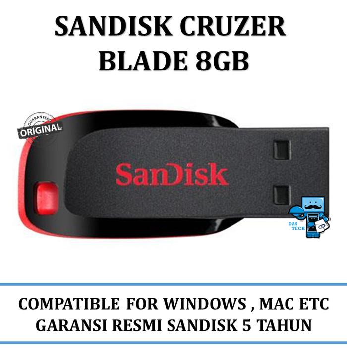 Usb flashdisk sandisk 8gb original - garansi resmi 5 tahun