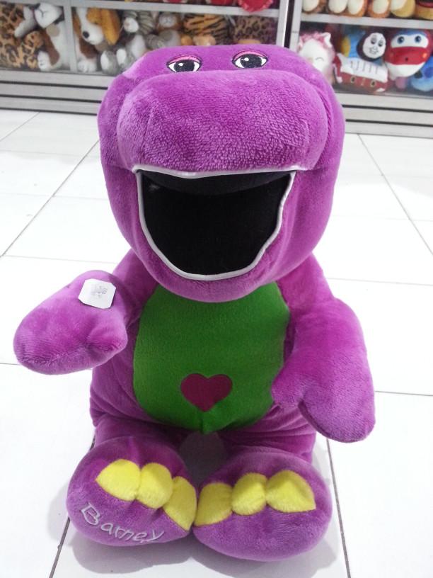 "NEW Authentic Universal Studios Barney 12/"" Pancake Plush Toy"