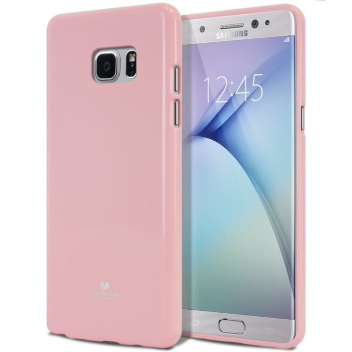 goospery samsung galaxy a3 2017 pearl jelly case - pink