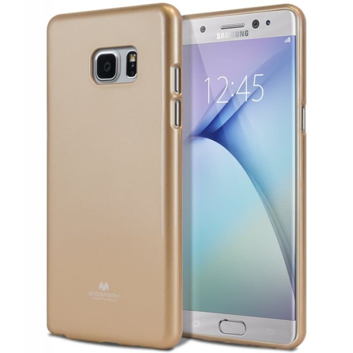 goospery samsung galaxy a3 2017 pearl jelly case - gold