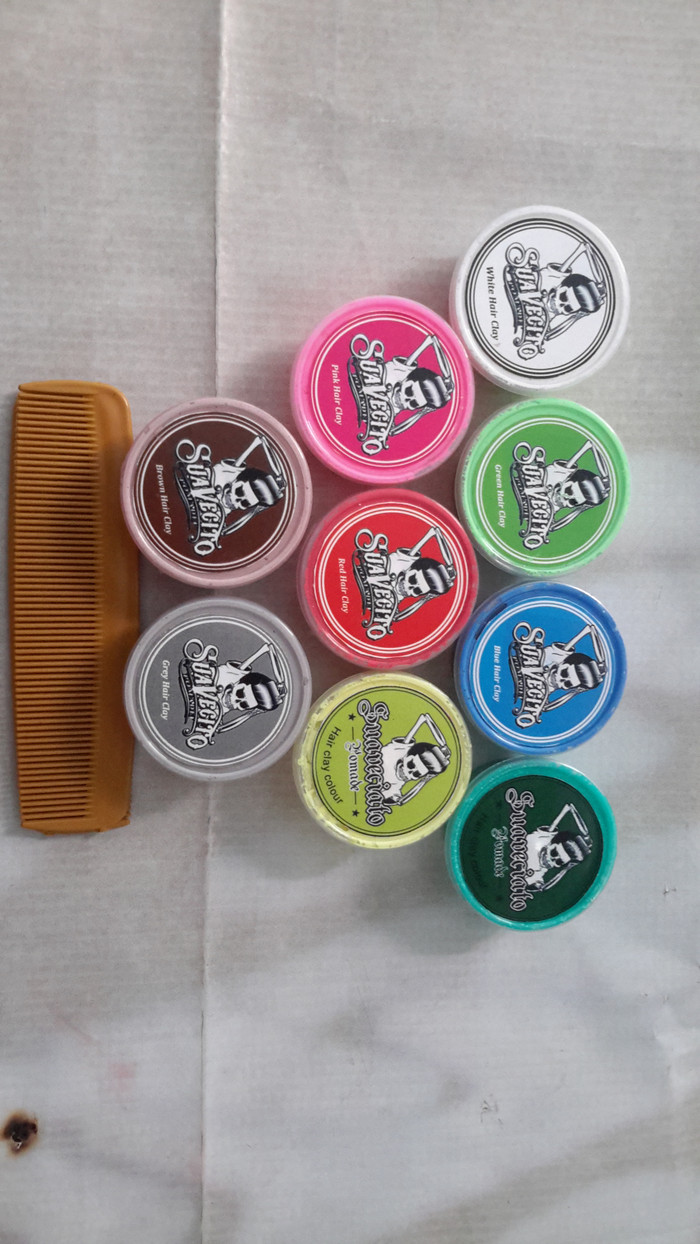 Harga Grosir Paket 100pcs Pomade Warna 30gr Free Sisir Suavecito Color Clay 15gram Grosirpaket