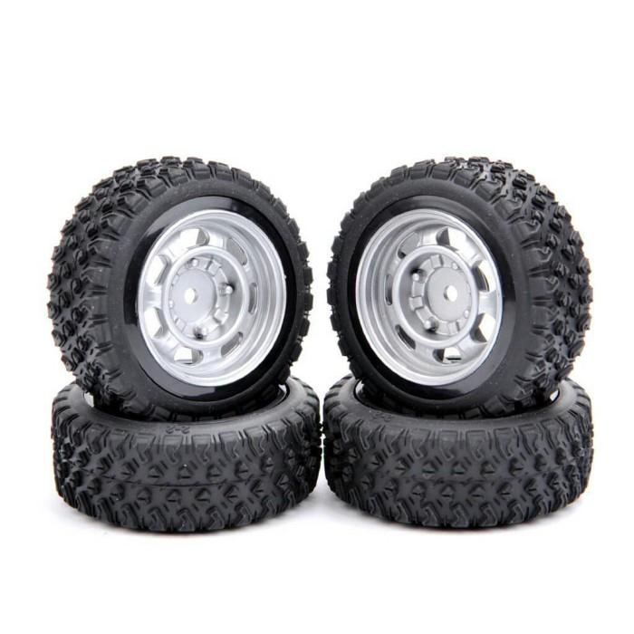 harga S01 rc onroad / rally / off road tire - ban rc velg 1:10 silver rim Tokopedia.com