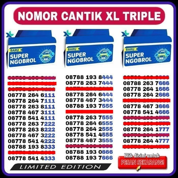 Kartu Perdana Nomor Cantik XL No Telkomsel Axis Simpati AS Loop IM3 XL