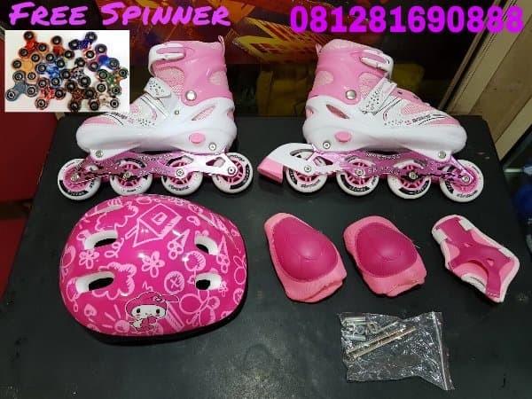 Jual Sepatu Roda Anak inline skate bisa BAJAJ komplit with DEKKER ... bfca758d4f
