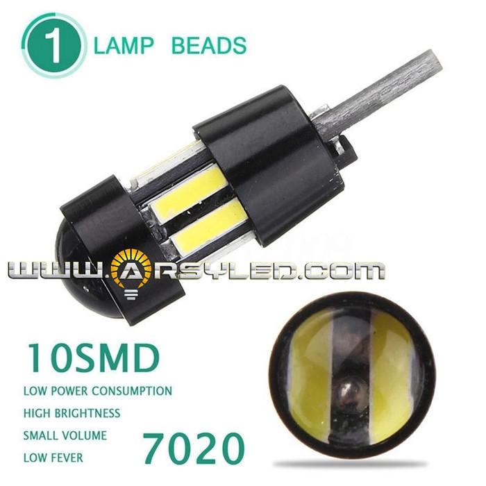 Foto Produk Lampu Led T10 Awet 7014 Proyektor Soket Metal CANBUS Senja Sein Mundur - Biru Muda dari arsystore