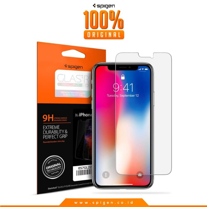 spigen iphone x tempered glass glas.tr slim