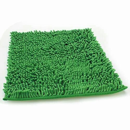 Keset Cendol Dof Hijau 40 x 60 cm karpet bulu / doormat chenille green