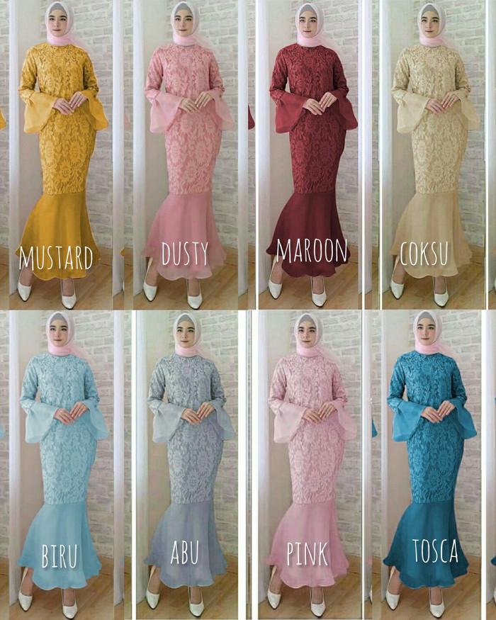 Jual Dress Brokat Mermaid Baju Pesta Brukat Duyung Murah Bagus Sawah Besar Eclaine85 Tokopedia