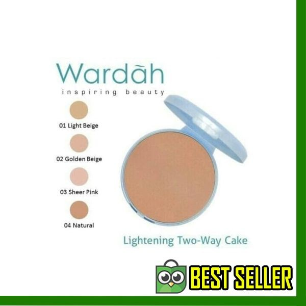 Terlaris REFILL Bedak Wardah Lightening TWC Two Way Cake Extra Cover