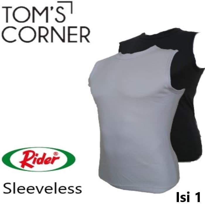 a4085012503318 Kaos Dalam   Singlet   Baju Pria Rider Tanpa lengan Hitam Fitness Gym