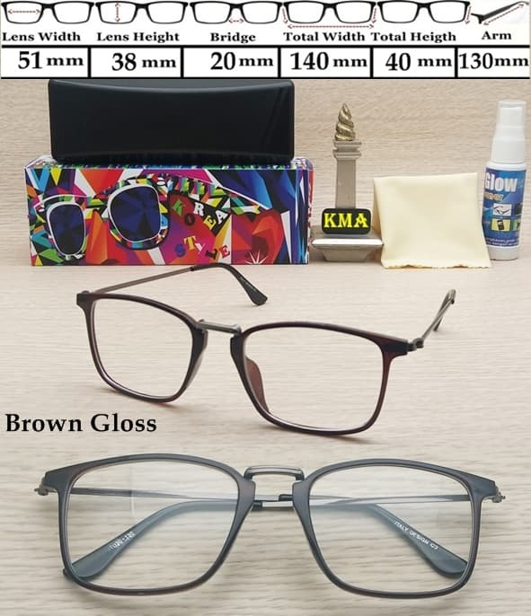 Jual Frame Kacamata Minus Korea Style Kacamata Minus Frame Vintage ... d6799e509d