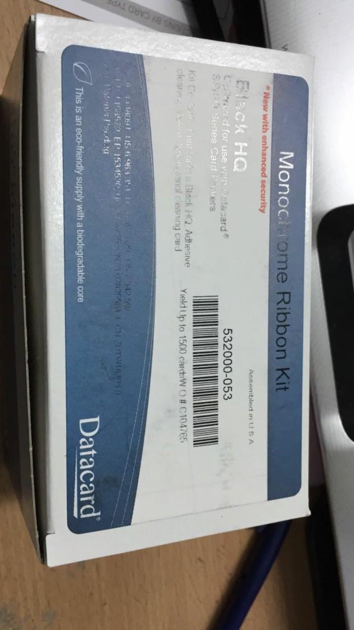 harga Ribbon datacard black 532000053 Tokopedia.com