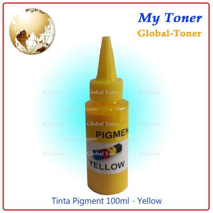 harga Tinta cair refil pigment printer ink jet epson 100ml yellow foto korea Tokopedia.com