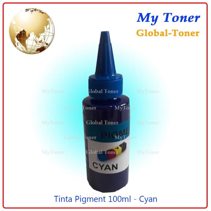 harga Tinta cair refill pigment printer ink jet epson 100ml cyan Tokopedia.com
