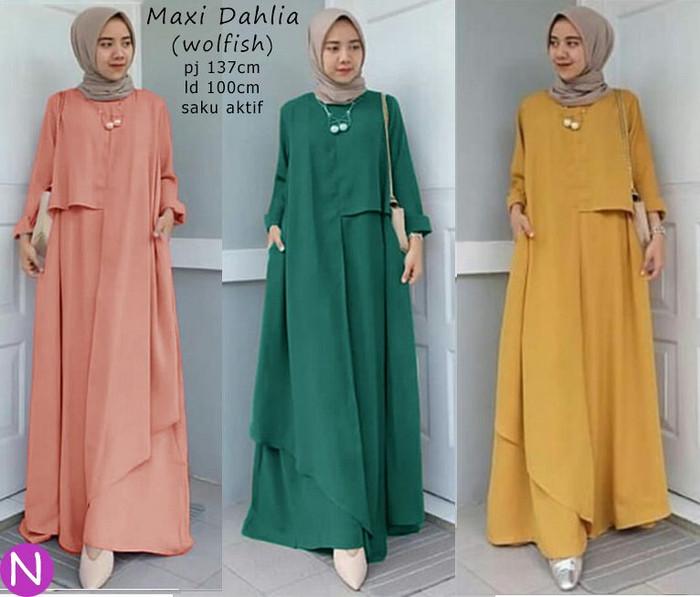 Atasan Wanita Muslim - Maxi Dress Dahlia Busana Muslim - Dzikri ... f541e0a92c