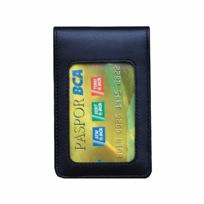 harga Tempat id card holder / name tag kulit sapi asli super hitam Tokopedia.com