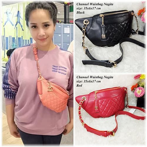 Jual Tas Wanita Channel CNL Chanel Waist Bag Belt Bag Nagita Harga ... 822b31f422