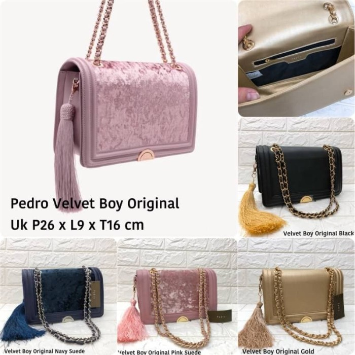 harga Tas pedro crossbody velvetboy original china Tokopedia.com