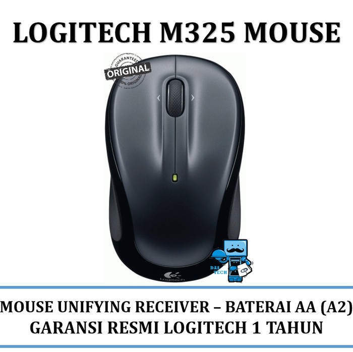 Mouse Wireless Logitech M325 - With Unifiying Receiver