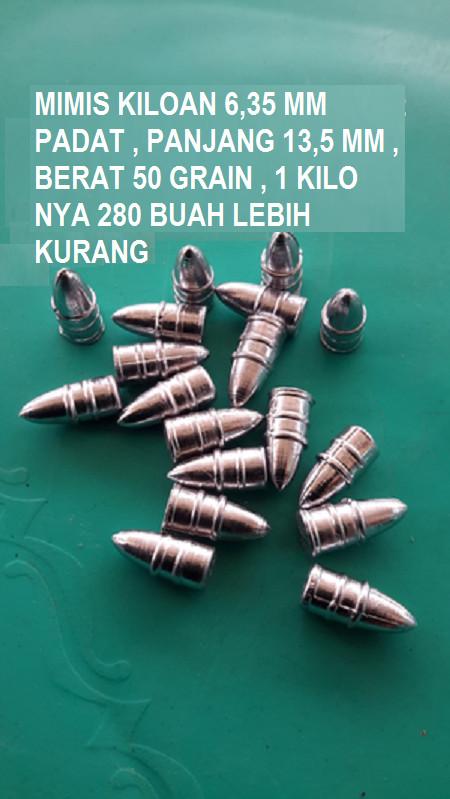 harga Mimis kiloan bullet padu 635 call 25 berat 385 grain 1kg 280 an Tokopedia.com
