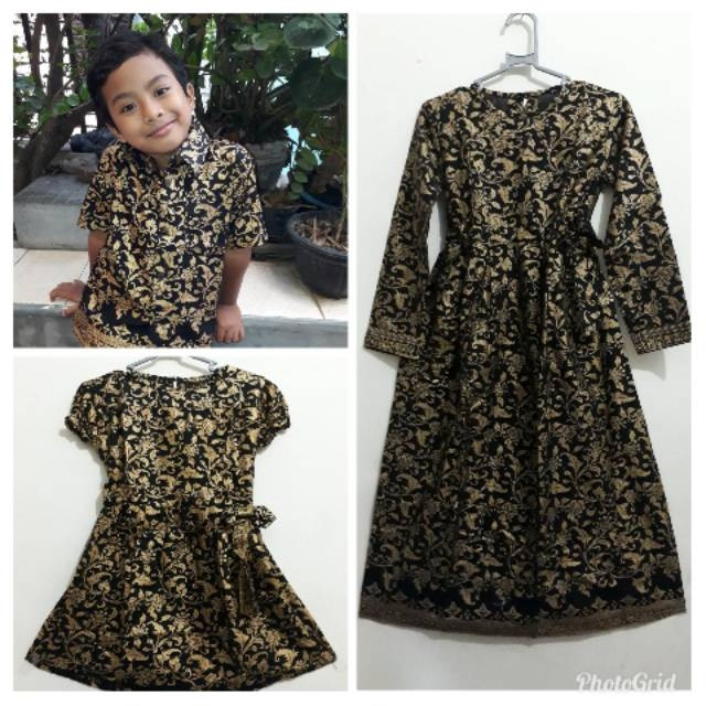 Jual Baju Batik Anak Laki Perempuan Dres Gamis Hem Kemeja Anak Baju
