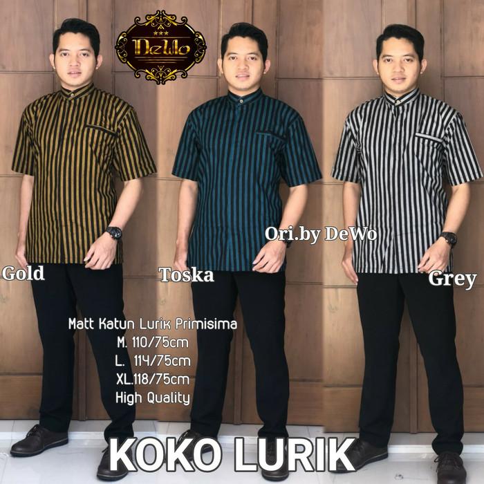 Jual Hem Lurik Kemeja Lurik Lengan Pendek Batik Premium Quality Kab Sukoharjo Kysa Batik Tokopedia