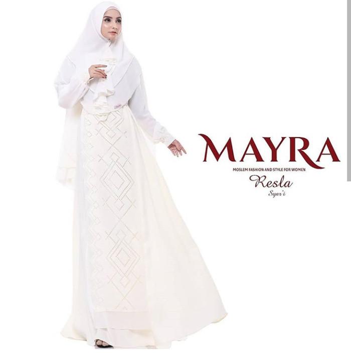 Jual Resla Syari By Mayra Gamis Syari Hitam Putih Polos Simple