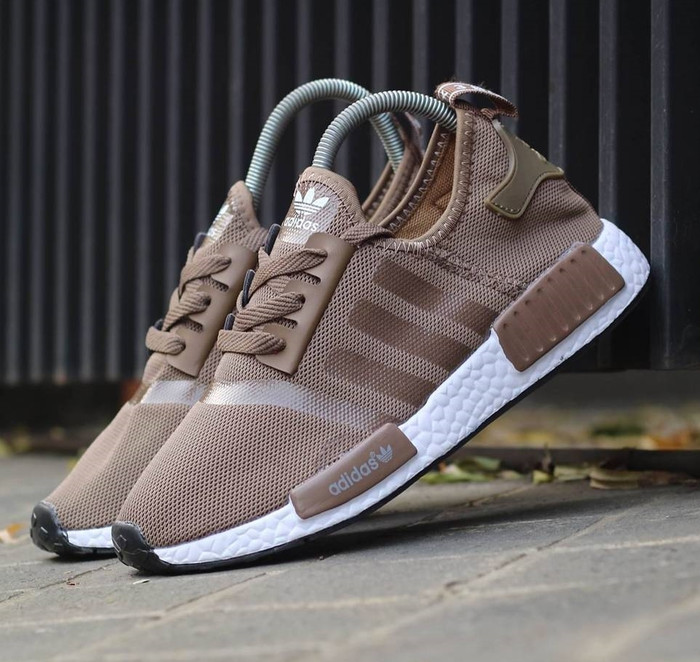 adidas originals nmd r2 sneakers in beige by 9916