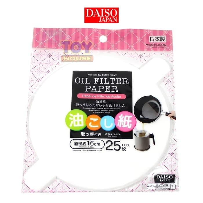 DAISO Oil Filter Paper Kertas Saring Minyak Goreng - Saringan Minyak
