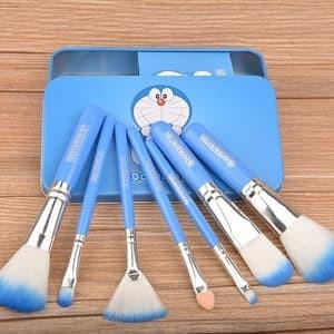 KUAS DORAEMON 7 in 1 / DORAEMON BRUSH KALENG / MakeUp Brush