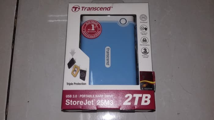 harga Os hardisk eksternal ori transcend storejet 25m3 2 tb usb 3.0 anti Tokopedia.com