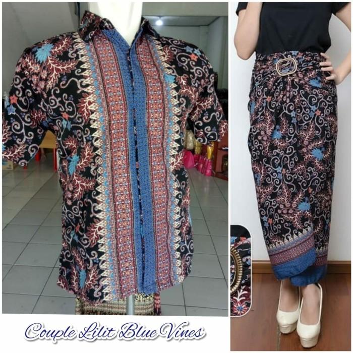 harga Couple rok lilit maxi klaarah dan kemeja batik pria Tokopedia.com