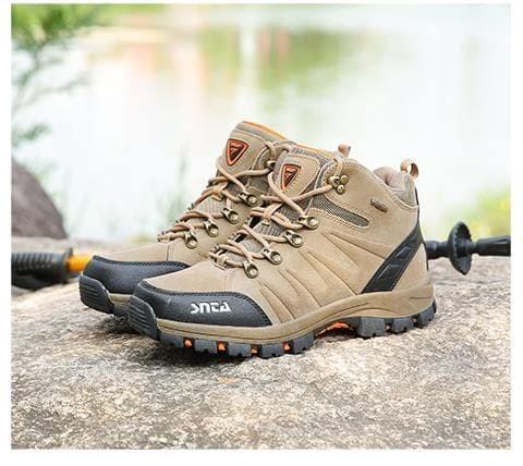 Sepatu Gunung Original SNTA 479 Pria - Sepatu Outdoor Hiking Climbing -  Green Orange 72636618ce