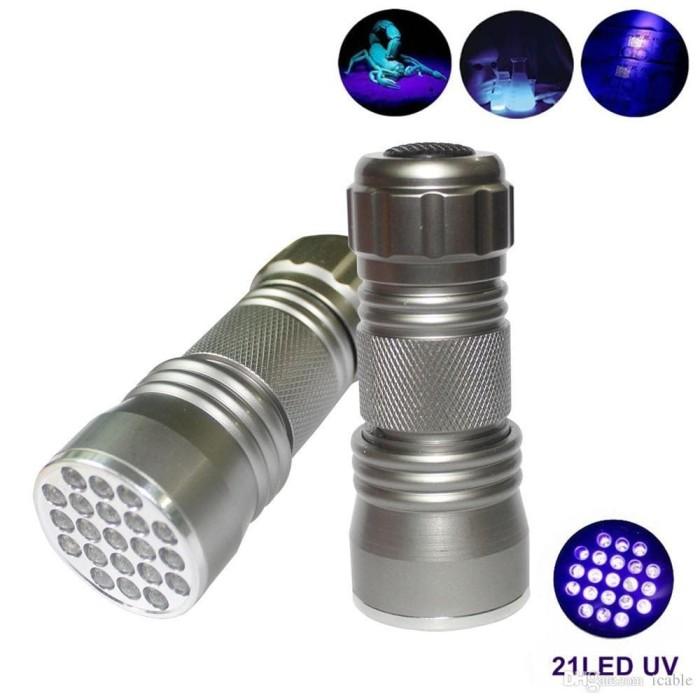 harga Senter uv ultraviolet dengan 21 leds Tokopedia.com