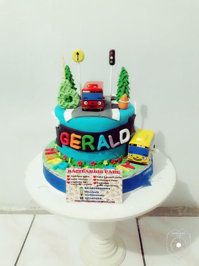 Jual Kue Ulang Tahun Little Bus Tayo Fondant Cake Jakarta Timur Novlauwcake Tokopedia