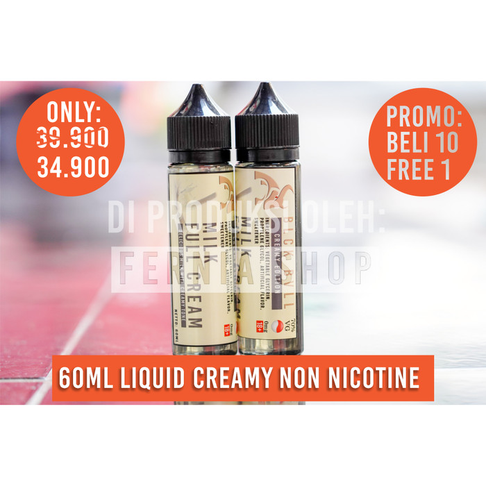 Premium Liquid Creamy Vapor Milk Full Cream Blck Bvll Black Bull