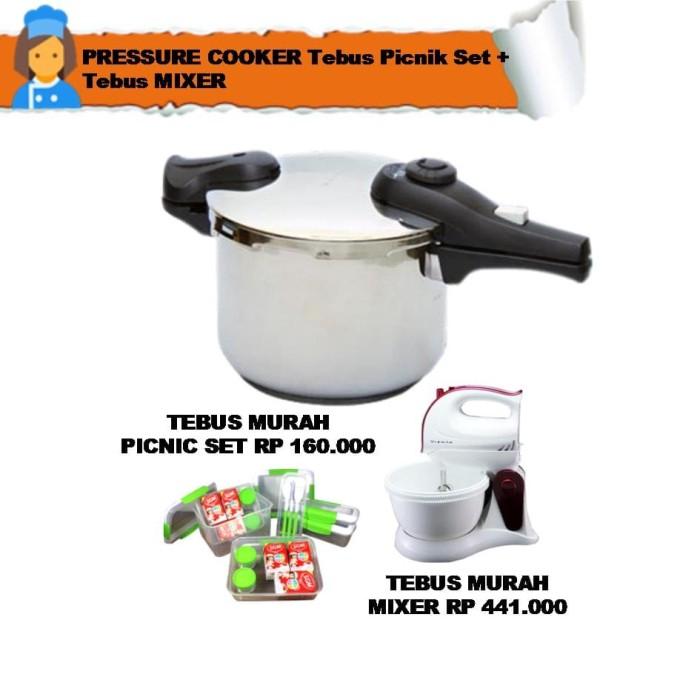 pressure cooker tebus picnik set + tebus mixer