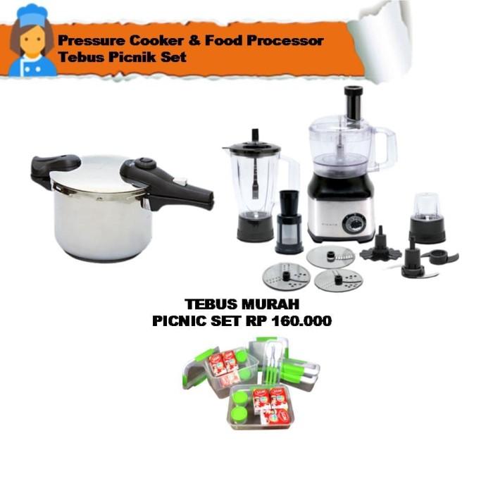 food processor & pressure cooker tebus picnik set